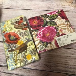 3/$10 Lot of 2 Floral Napkins NWT